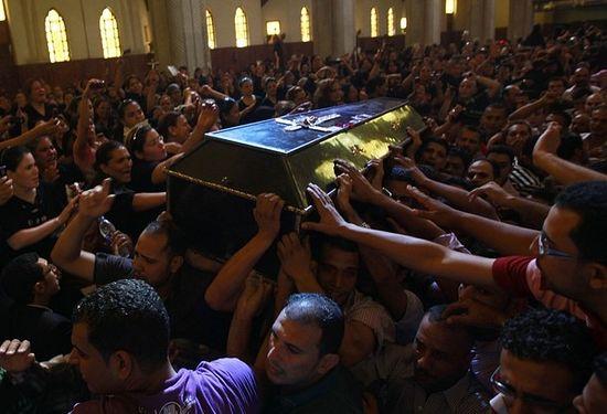 """Прощания с """"мучениками Масперо"""", 10 октября, Кафедральный собор св.ап.Марка в Каире"""