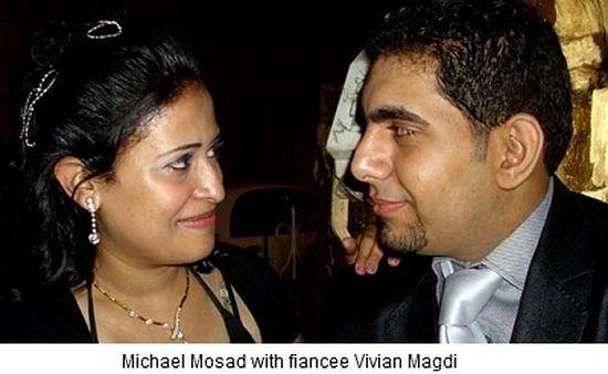 Майкл Мосад, убитый 9 октября 2011 года на Масперо, и его невеста Вивиан Магди