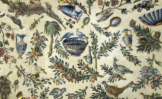 Алегорическое изображение рая. Мозаика. Рим, V в.