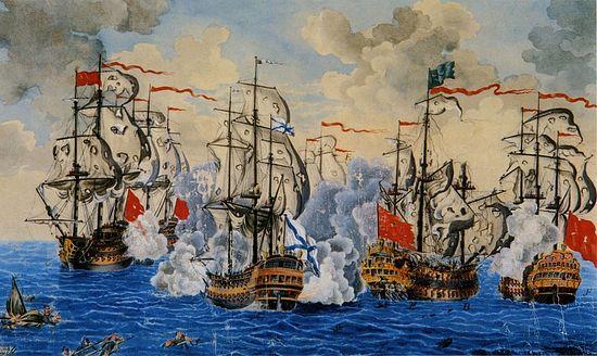 Сражение у мыса Калиакрия 31 июля 1791 г. Художник А.Депальдо