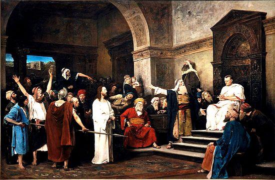 Mihaly Munkacsy. Christ before Pilate, 1881