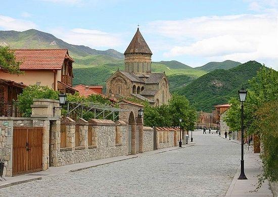 Mtskheta is a site of three UNESCO World Heritage monuments including, the Svetitskhoveli Cathedral