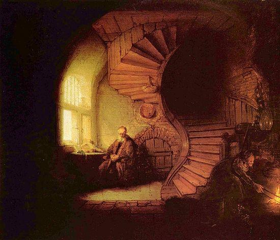 Рембрандт. Философ в раздумьи