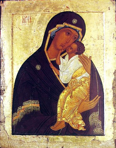 The Yaroslavl icon of the Mother of God.