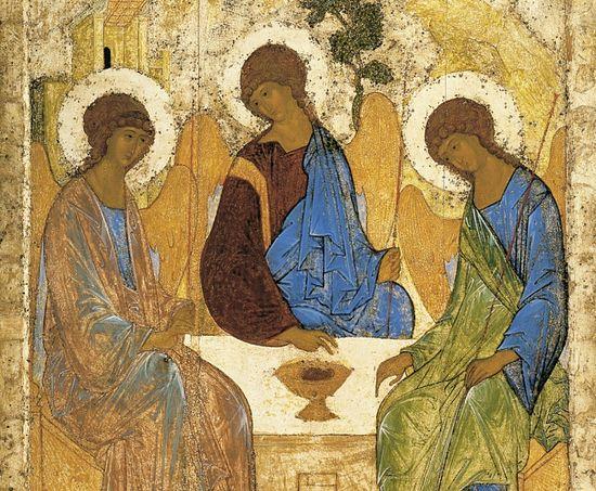 «Троица» Андрея Рублева. Источник фото wikipedia.org