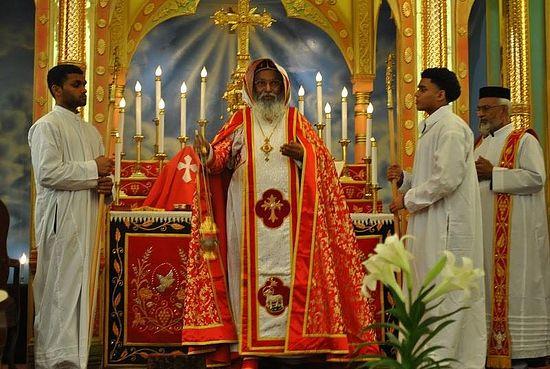 Служба в Маланкарской церкви
