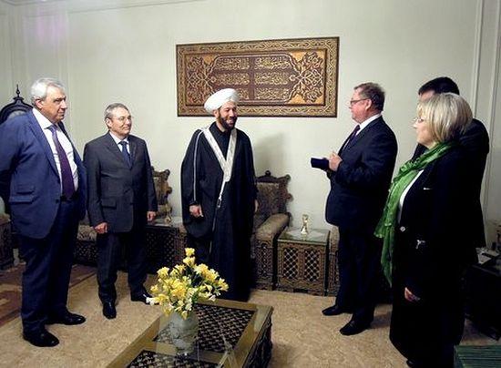 Дамаск, апрель 2014 года. делегация ИППО во главе с Председателем ИППО Сергеем Степашиным в доме Верховного муфтия Сирии