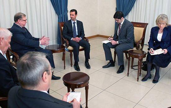 Дамаск, 2 апреля 2014 года. В ходе встречи с президентом Сирии Башаром Асадом