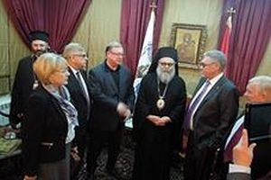 Апрель 2014 года. Встреча с Патриархом Антиохийским и всего Востока Иоаном X в Баламандском монастыре (Ливан)