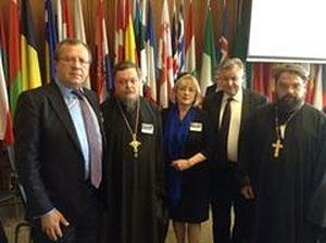 18 мая 2015 года. Штаб-квартира ОБСЕ в Вене. Участники конференции по христианофобии