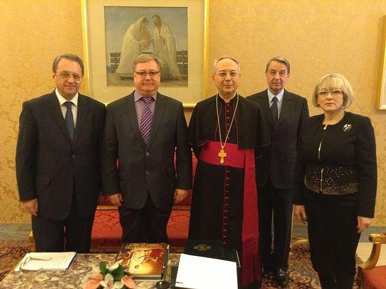 Ватикан. Встреча делегации ИППО с кардиналом Домеником Мамберти, февраль 2014 года.