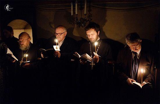 Среда первой седмицы Великого поста. Чтение канона прп. Андрея Критского в Сретенском ставропигиальном монастыре