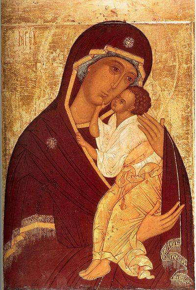 Ярославская икона Божией Матери. XVI век