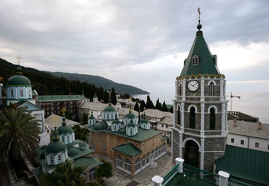 Русский Свято-Пантелеимонов монастырь на Афоне. Современный вид