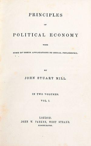 Дж.Ст. Милль. Основы политической экономии