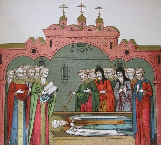 Смерть и погребение святителя Стефана. Источник фото wikipedia.org