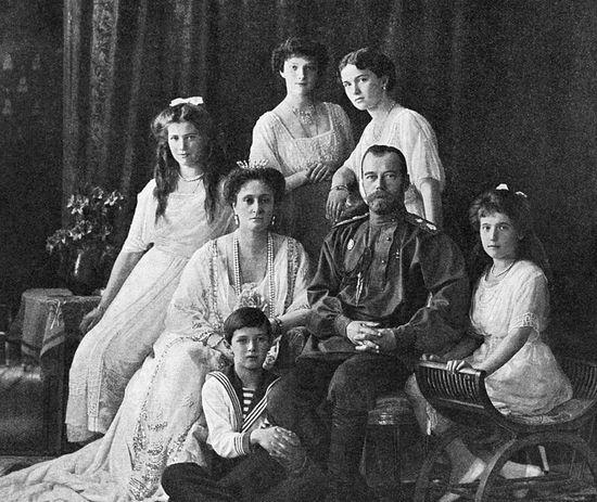 Russian Emperor Nicholas II (second from right) and his family. / RIA Novosti