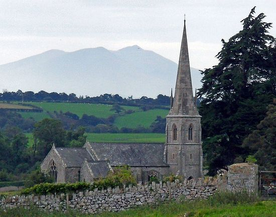 St. Edwen's Church on Anglesey, Wales