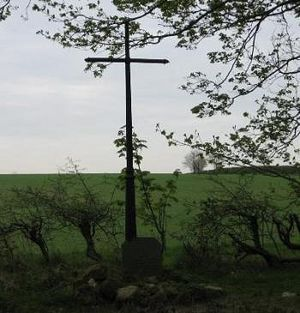 St. Edwin's cross in Edwinstowe, Nottinghamshire