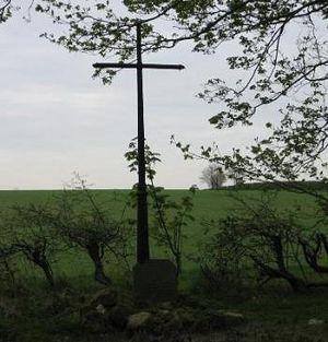 St. Edwin's cross in Edwinstowe, Nottinghamshire
