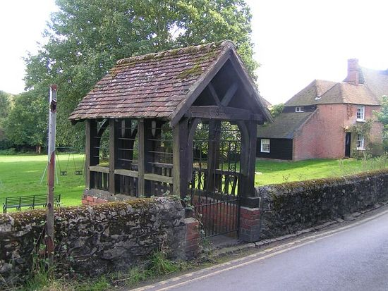 St. Ethelburgh's holy well in Lyminge, Kent