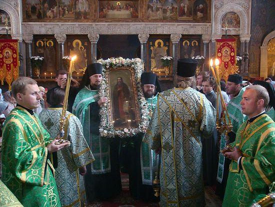 В день памяти преподобного в 2009 году в Киево-Печерской лавре.