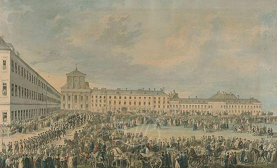 Франц Ксавер Штёбер. Похоронная процессия Людвига ван Бетховена. 1827