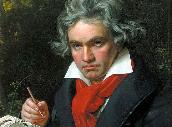 Людвиг ван Бетховен на портрете Карла Штилера. 1820 год
