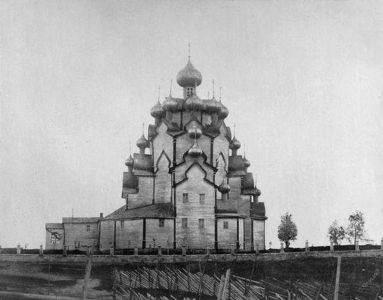 Уничтоженная церковь Покрова Пресвятой Богородицы на Вытегорском погосте