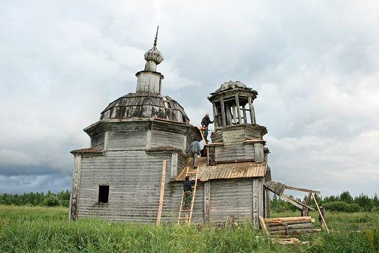 Восстановительные работы в Чоково