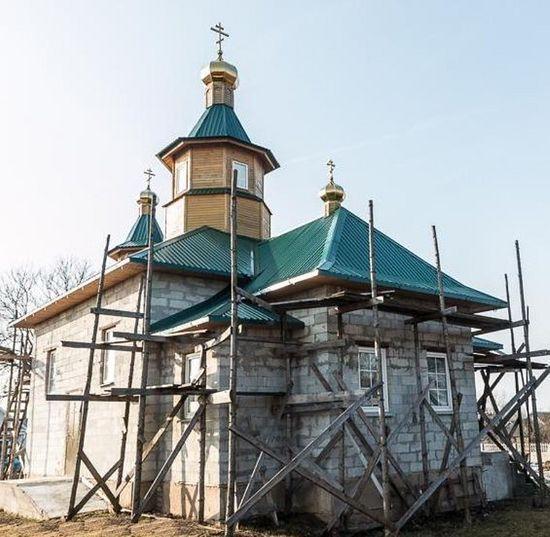 Строящийся храм святителя Николая в Тимковичах