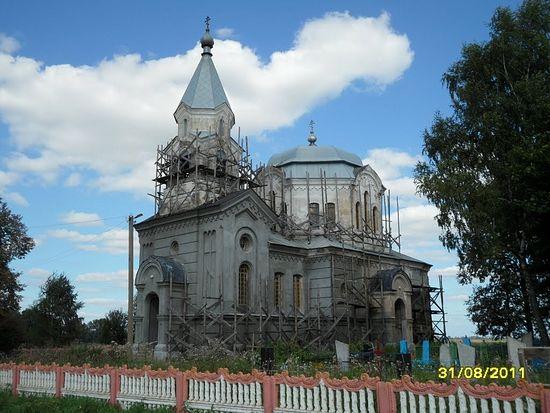Церковь в честь Вознесения Господня, д. Киевичи