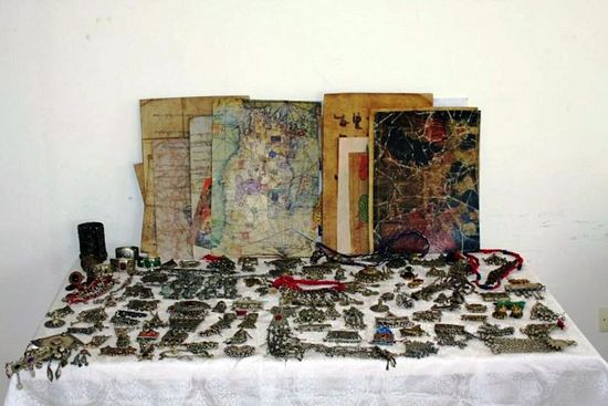 Many other historical artifacts were also seized by the security forces.