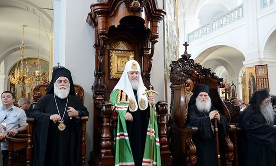 Patriarch Kirill at St. Andrew's Skete on Mt. Athos