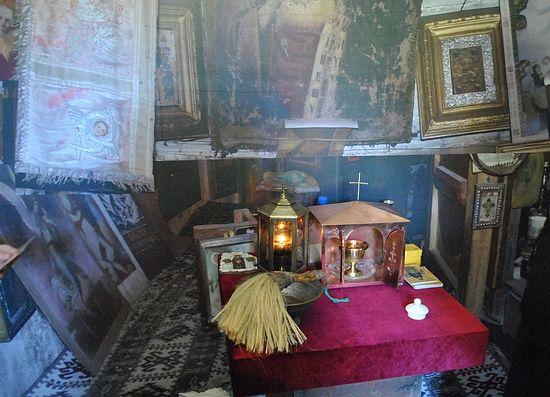 Лампада с могилы старца Гавриила