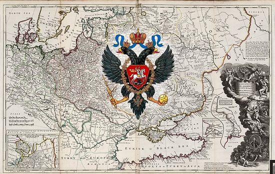 Руска империја. Карта из XVIII века