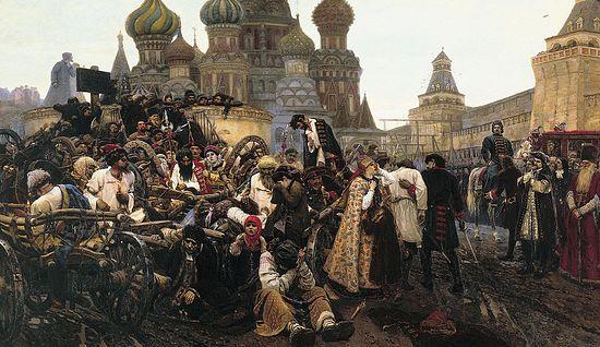 В.И.Суриков. Јутро погубљења стрелаца. 1881.