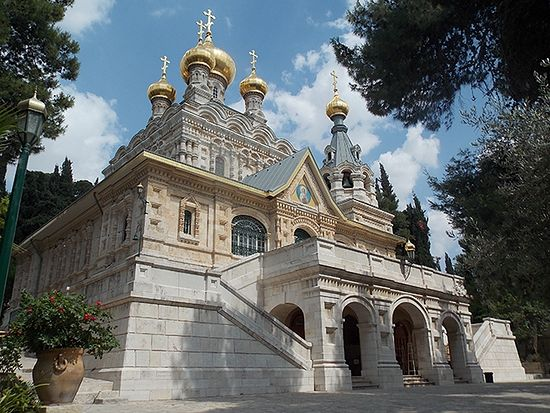 The Church of St Mary Magdalen on the Mount of Olives under ROCOR