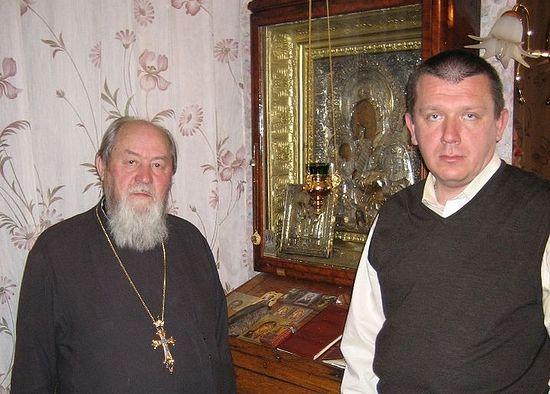 Протоиерей Василий Ермаков и Евгений Лопатин