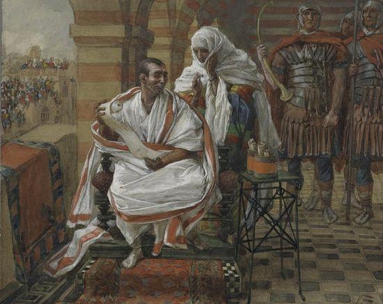 Джеймс Тиссо. Послание от жены Пилата