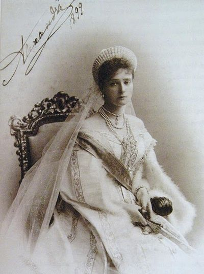 A signed portrait of the Empress from 1899, five years into her reign with Nicholas II.