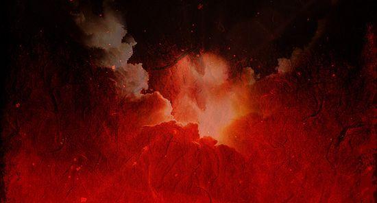 Извержение вулкана. Фрагмент фото flickr.com/34053291@N05