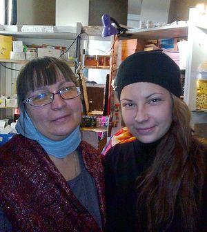 Людмила с дочерью Дашей