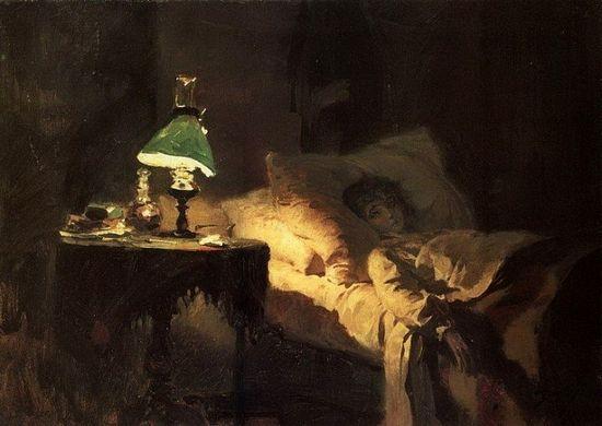 В.Д.Поленов. Больная. 1865