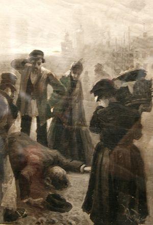 И. Грабар «Раскољников на тргу». Илустрација романа Ф.М. Достојевског «Злочин и казна» 1894.