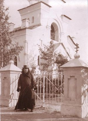 Hieromartyr John Kochurov at the Kazan church in Sillamäe on the Gulf of Finland