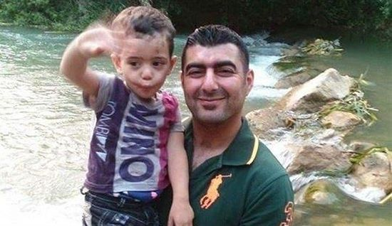 Adel Turmus tried to prevent the explosion at the cost of his own life. On the photo he is with his little son.
