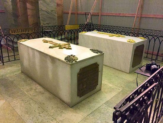 Мермерни надгробни споменици цара Александра III и његове супруге Марије Фјодоровне у Петропавловској тврђави