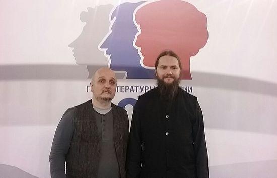 Фото: СРБИН.ИНФО – Отац Игњатије Шестаков и Дејан Петар Златановић
