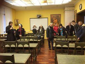 The pilgrims at Sretensky Seminary